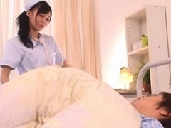 Aino Kishi Japanese nurse shows off her wet pussy