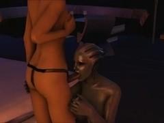 Mass Effect Futa on Female