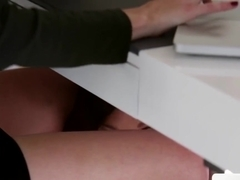 Lesbian Babe Makes Out With Her Hot Boss