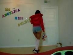 Fabulous twerking cam panty clip