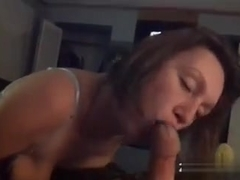 My wife giving some fine fucking head umm love when this babe sucks my large wang