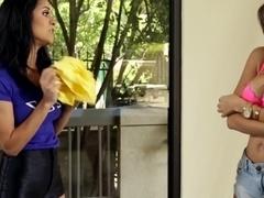 Best pornstar in Amazing Latina, Lesbian porn video