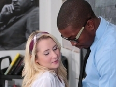 InnocentHigh - Tiny Blonde Student Fucks BBC Teacher