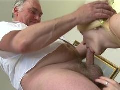 Fabulous pornstar in Incredible Oldie, Blonde adult clip