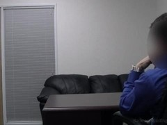 Passionate blond swallows my cumshot