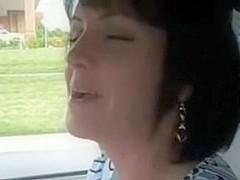 Mature brunette cuckold wife has gangbang