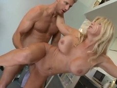 Ingrid Swenson is ridding Levi Cash cock