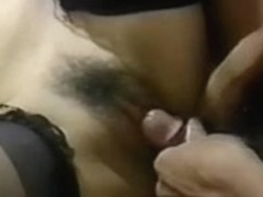 Lusty oriental acquires slit drilled with marital-device in her booty