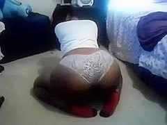 My stacked darksome skin doxy shaking her chubby butt on web camera