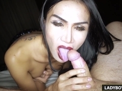 Sexy Ladyboy Bella Blowjob And Rimjob