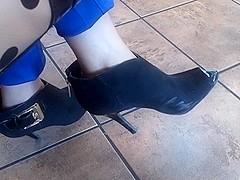 Candid peep toe booties