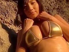 Asian Babe on the beach