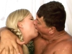 Young Sunny Diamond fucks with her step daddy