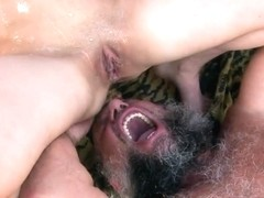Two guys pounding an amazing babe Brigitta