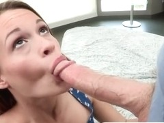 Pretty Kacy banged hard by a big cock