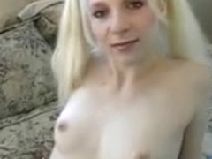 Nice-Looking juvenile blond with worthwhile round butt fingers her pierced clitoris then bonks