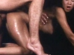 Amazing Vintage Asian Girl - Big Tits & Hot Oil Fuck