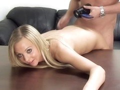 Beautiful blonde got her pussy filled with cum