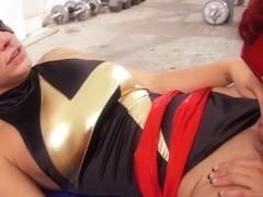 PinkoHD XXX video: Superhero lesbians