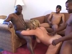 Mature Summer in a Racial Gangbang