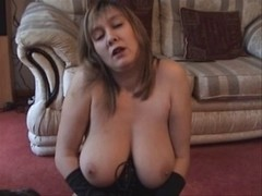 large titties in leather