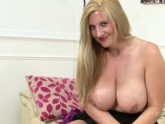 Wicked Mother I'd Like To Fuck rubs her love button and plays with her biggest scoops!