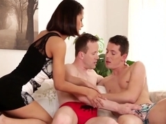 Isabella Joins In Nick And Georgio In Hot Bisex Fuck Session