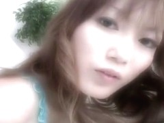 Elegant girl Yoko Nouda makes sweet love to her fingers