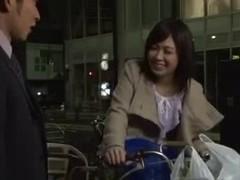 wife on the bike