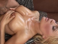 Anastasia licks that stick and does a titjob