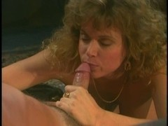 Horny retro blonde babe fucking with her man