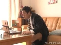 Appealing Japanese milf Akiho Yoshizawa is a horny teacher