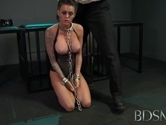 Young sub gets so wet when chained up and dominated by her Master