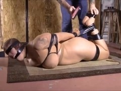 girl encased nylon