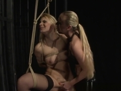 Bound Lesbian Gets Her Pussy Disciplined