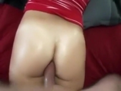 Fantastic golden-haired GF acquires team-fucked in her gazoo ends with facial