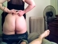 Big Amateur Booty Enjoying Hubby's Cock