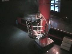 Voyeur cam shoots guy diddling strip dancer in the night club