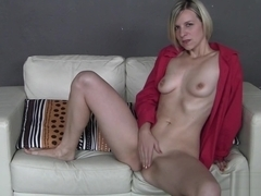 Desirable blonde loves to drill her wet cunt