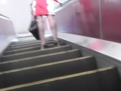 Unforgettable accidental upskirt video with brunette