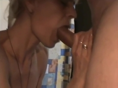 Cheating amateur blonde milf with big