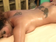 Happy ending massage with big natural Asian titties