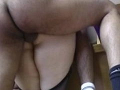 French bulky big beautiful woman aged prof anal fucking in the classroom