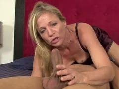 Horny pornstar Violet Vamp in fabulous deep throat, blonde adult scene