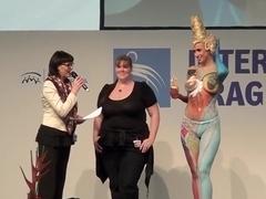 Bodypaint Fashionshow Nude Show Praha