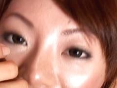 Mio Hiiragi kneels before cock - More at hotajp.com