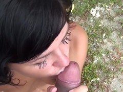 Bella Margo  in sex on the beach video with a chick sucking dick