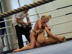 Aleska Diamond and Cristal May like to fight fully naked