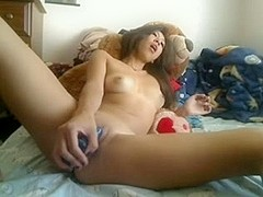 adrianeasian masturbating on web camera #01