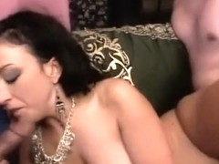 Lustful Indian babe with a marvelous ass has two guys fucking her needy snatch